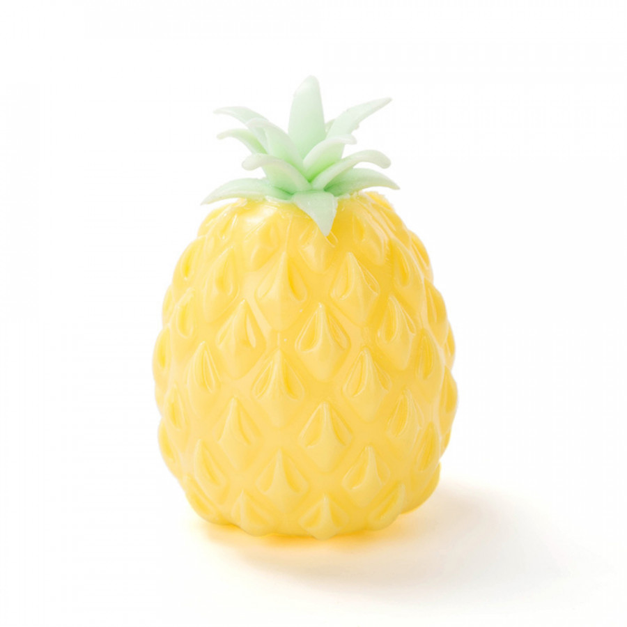 Pineapple Ball Soft Fruit Novelty Squishing Gel Antistress Reliever Cute Squeeze Vent Toy Xmas Gift For Kids - Yellow
