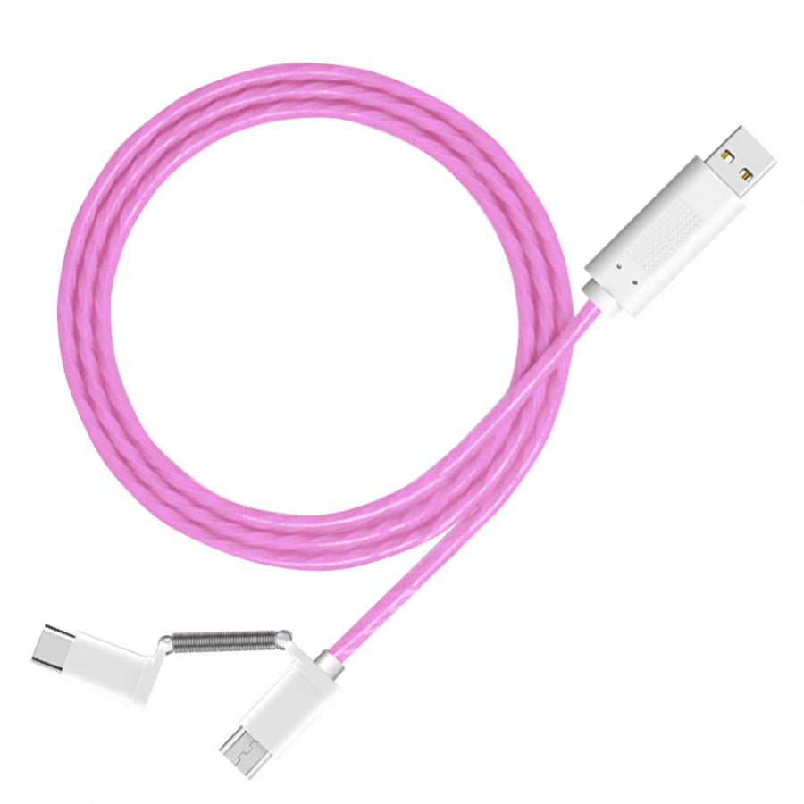 Dây Sạc Điện Thoại 2 Đầu Micro USB Type-C (1m)