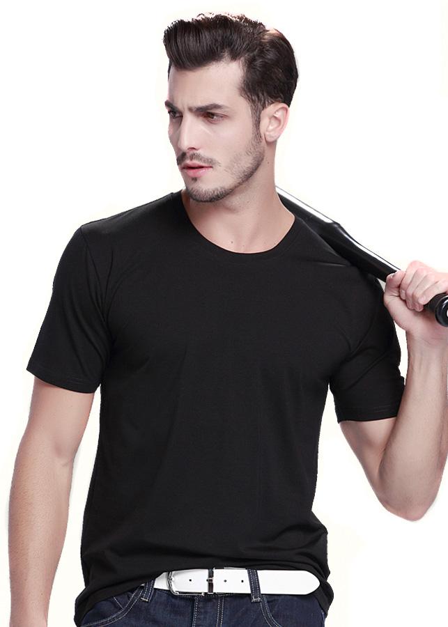 Áo thun nam áo phông trơn của nam màu đen