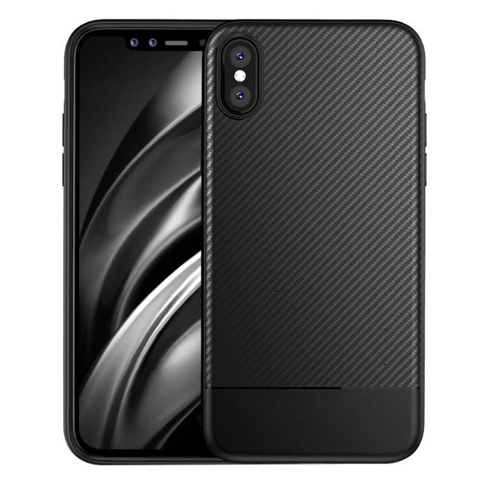 Ốp Lưng Dẻo Carbon Dành Cho Điện Thoại iPhone X/ Xs