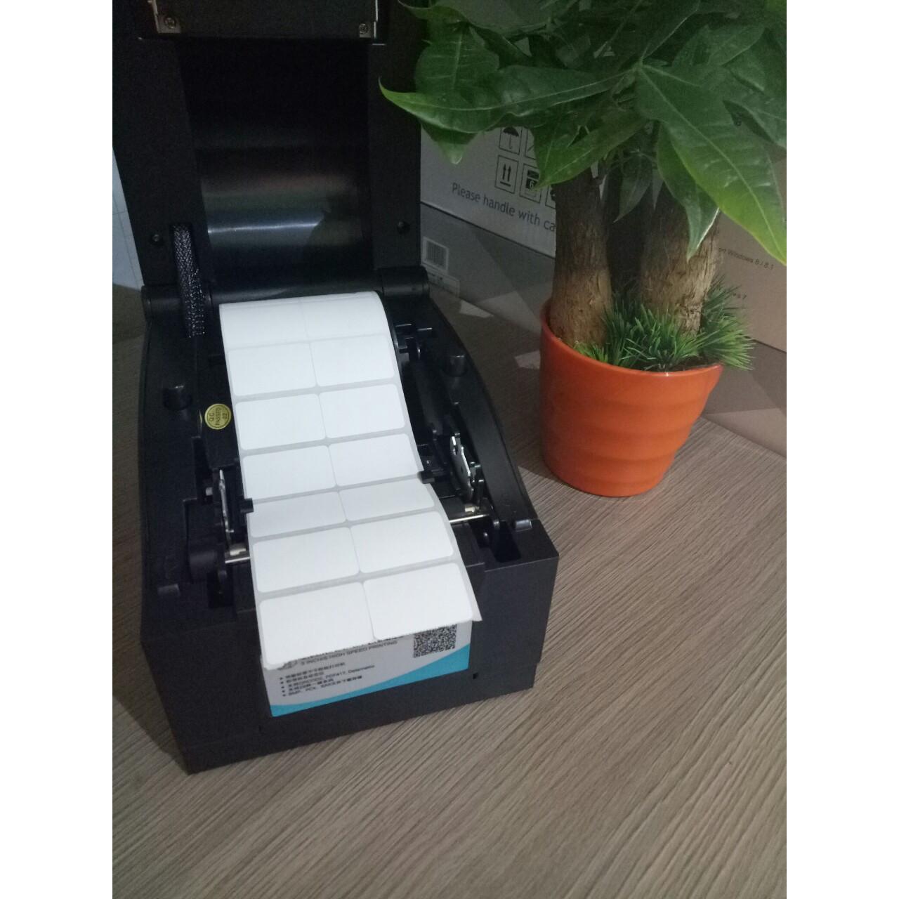Set 5 cuộn giấy in tem shop thời trang 35*22mm