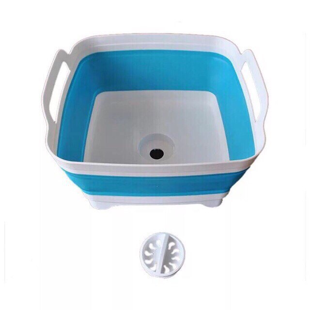 Chậu nhựa gấp gọn có van xả nước để bồn rửa bát tiện dụng - 9559494 , 1999316114602 , 62_14971493 , 299000 , Chau-nhua-gap-gon-co-van-xa-nuoc-de-bon-rua-bat-tien-dung-62_14971493 , tiki.vn , Chậu nhựa gấp gọn có van xả nước để bồn rửa bát tiện dụng