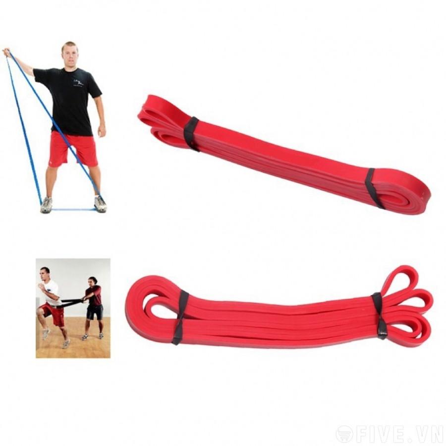 Dây kháng lực power band tập gym - yoga (màu đỏ)