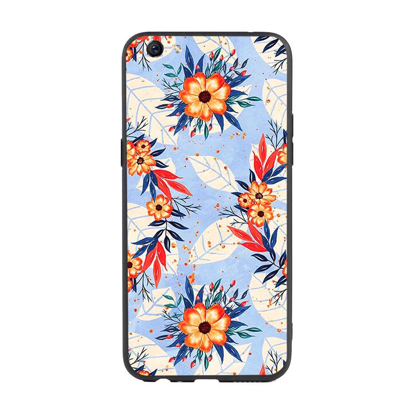 Ốp lưng viền TPU cho điện thoại Oppo F3 Plus - Flower 16