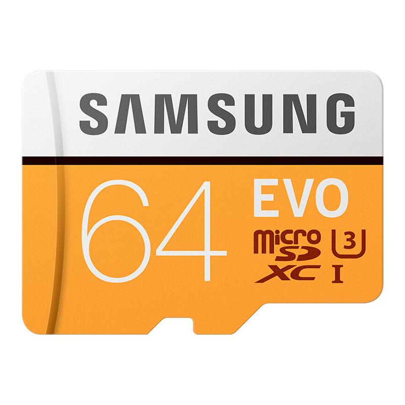 Samsung Micro SD Card TF Card 100MB/s (U3)  EVO Class 10 Memory Card Adapter Not Include (MB-MP64G)