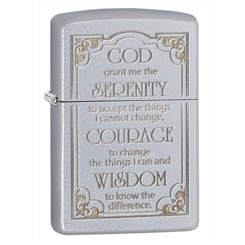 Bật Lửa Zippo Serenity Prayer Satin Chrome 28458