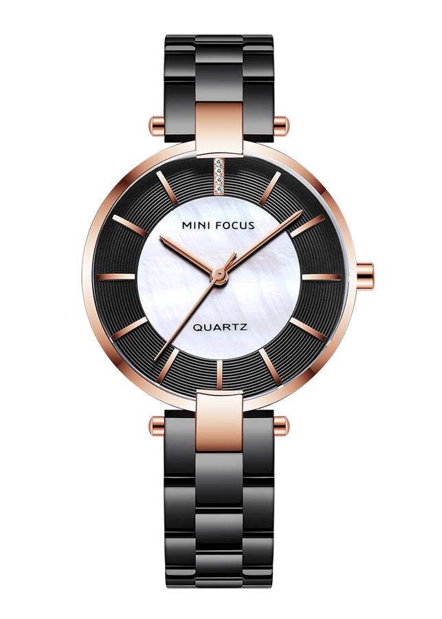 """Đồng hồ nữ MINI FOCUS """" PEARL """" dây thép đúc cao cấp JS-MF224"""