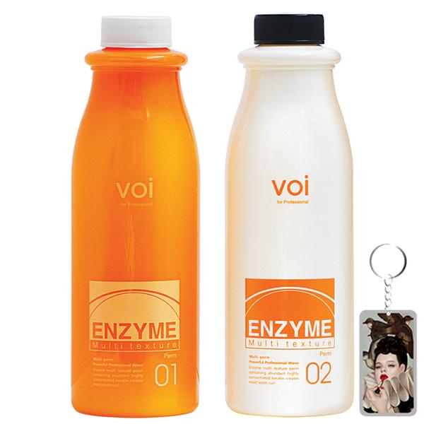 Thuốc Uốn Tóc Thảo Dược Đa Năng( Uốn Nóng  Uốn Lạnh) Enzyme Multi Texture 2x500ml Tặng móc khoá