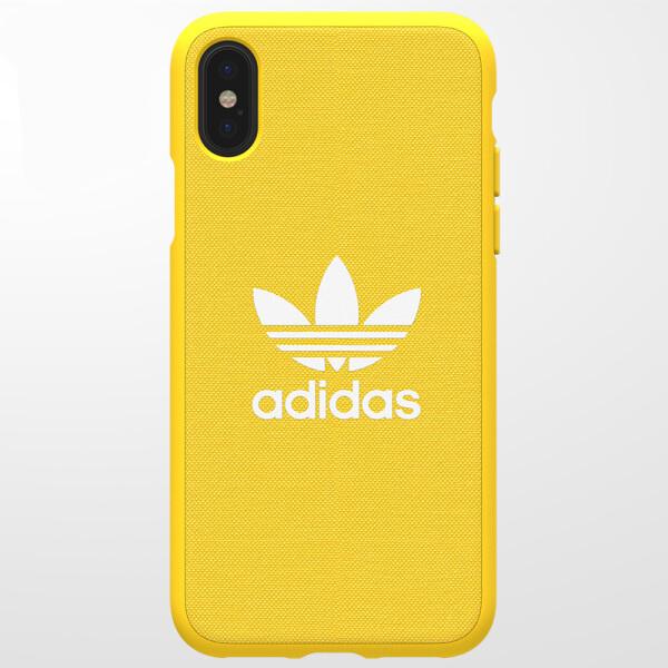 Ốp Lưng Nhựa Dẻo Dành Cho iPhone X Adidas - Vàng