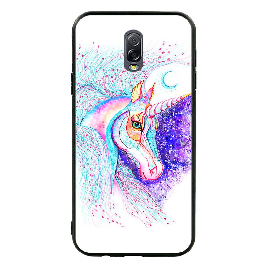 Ốp lưng nhựa cứng viền dẻo TPU cho điện thoại Samsung Galaxy J7 Plus - Horse 01