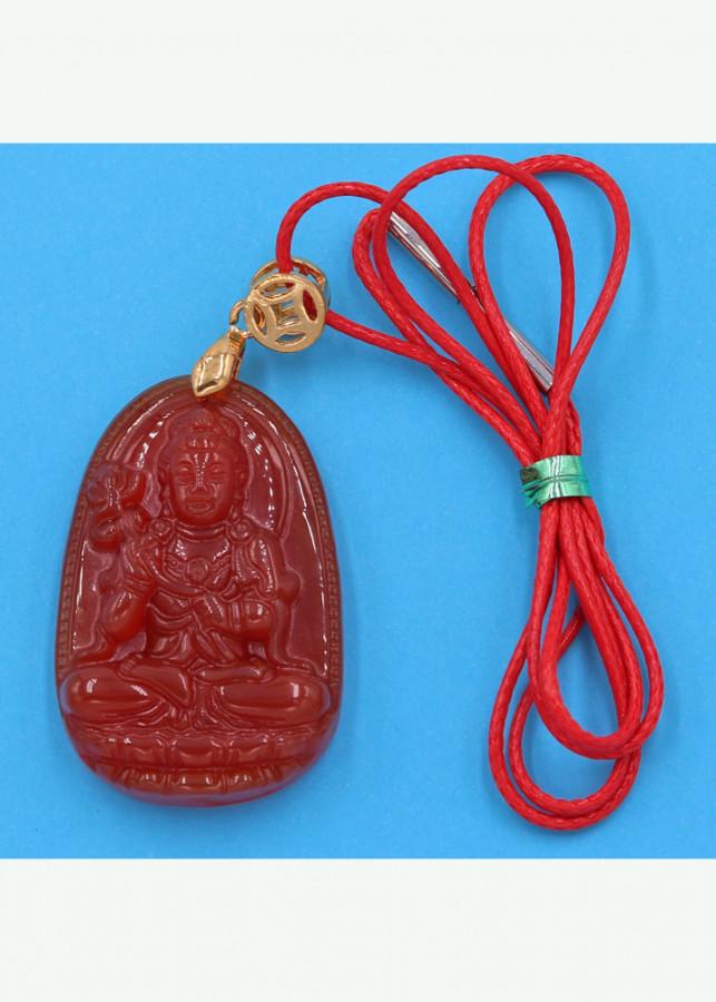 Vòng cổ Đại Thế Chí bồ tát - thạch anh đỏ 3.6cm DOTOB4 - dây dù đỏ - tuổi Ngọ
