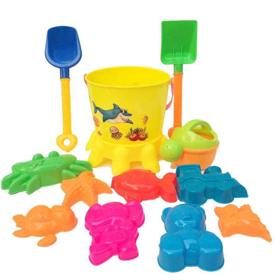 Bộ đồ chơi xúc cát  đi biển xô bạch tuộc 12 chi tiết  hàng Việt Nam (giao màu ngẫu nhiên)