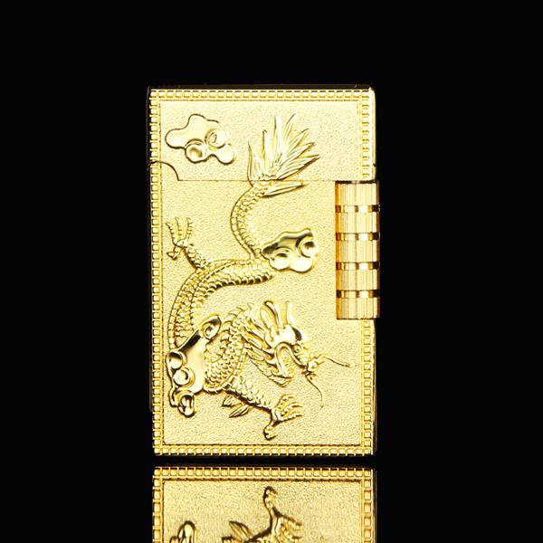 Hộp quẹt hình con rồng - Màu Vàng