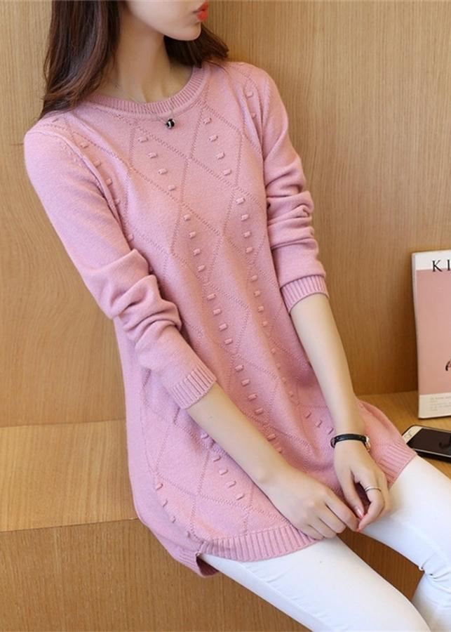 Áo len dáng dài nữ freesize al14