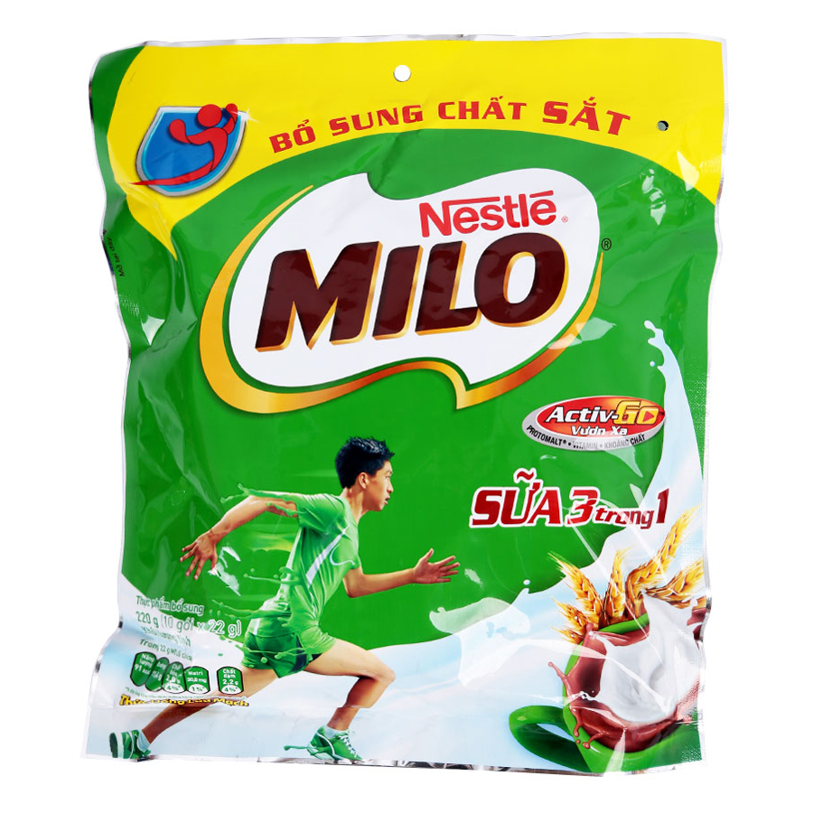 Bột Milo Nestle 3 Trong 1gói 220g