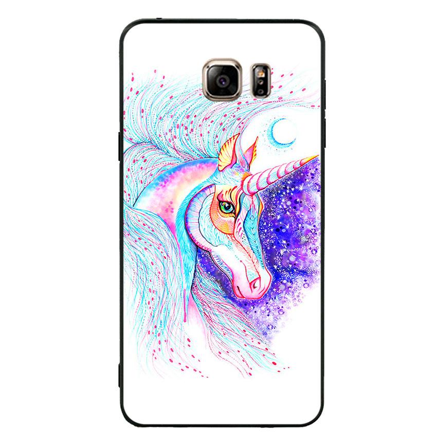 Ốp lưng nhựa cứng viền dẻo TPU cho điện thoại Samsung Galaxy Note 5 - Horse 01