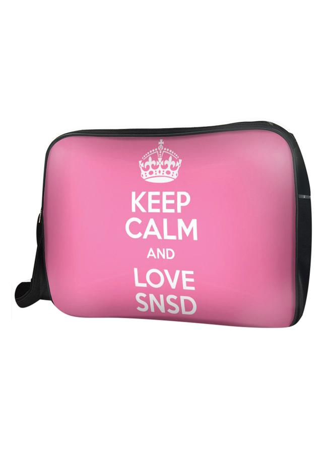 Túi Đeo Chéo Hộp Unisex Keep Calm And Love Snsd - TCKK074