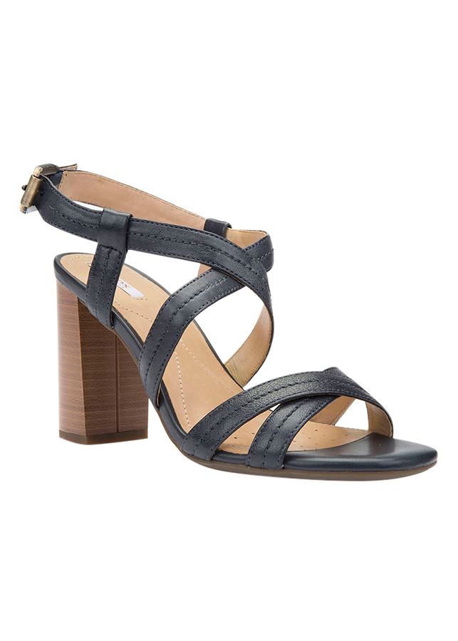 Giày Sandal Cao Gót Nữ GEOX D AUDALIES H.S.A NAP SHE LEA NAVY
