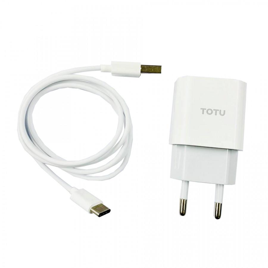 Bộ cáp sạc Totu Caca014 dùng cho Android đầu Type C 2.4A dài 1M - Chính Hãng