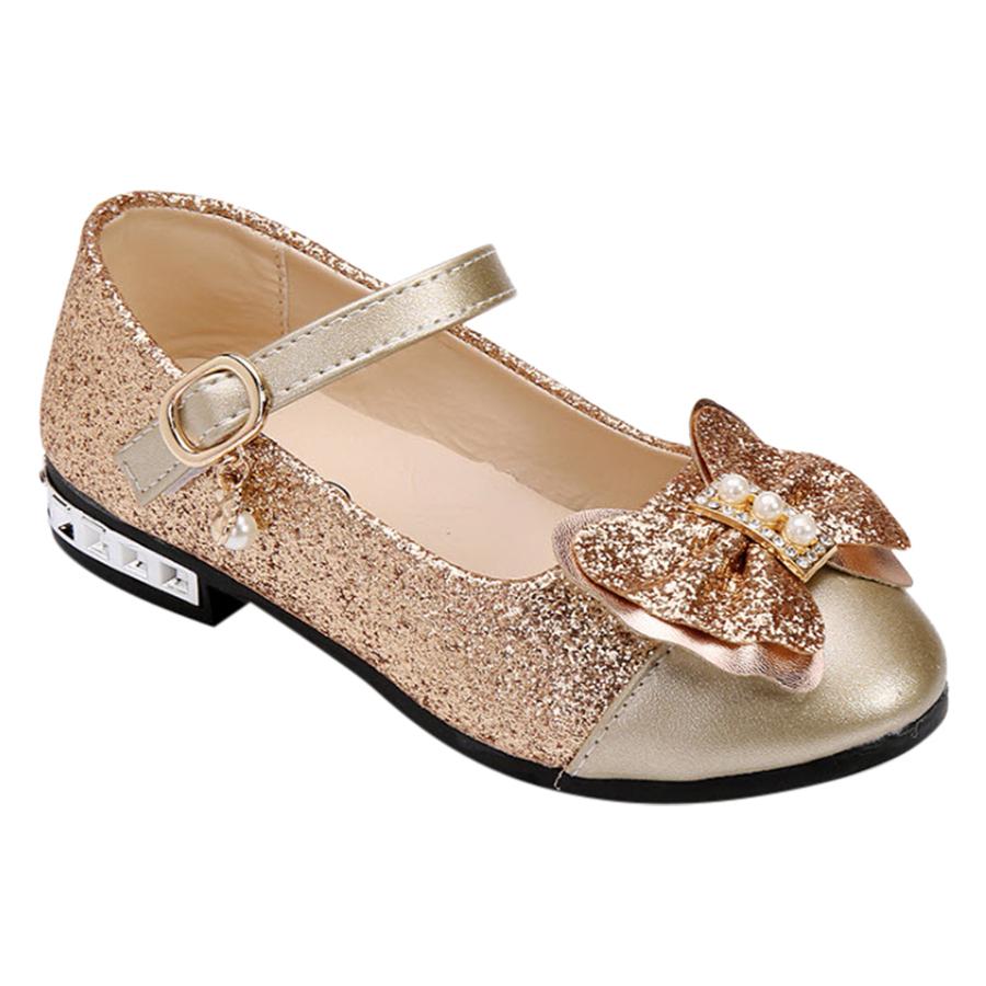 Giày Công Chúa Cho Bé Gái 3 - 12 Tuổi GA67 - Vàng Kim