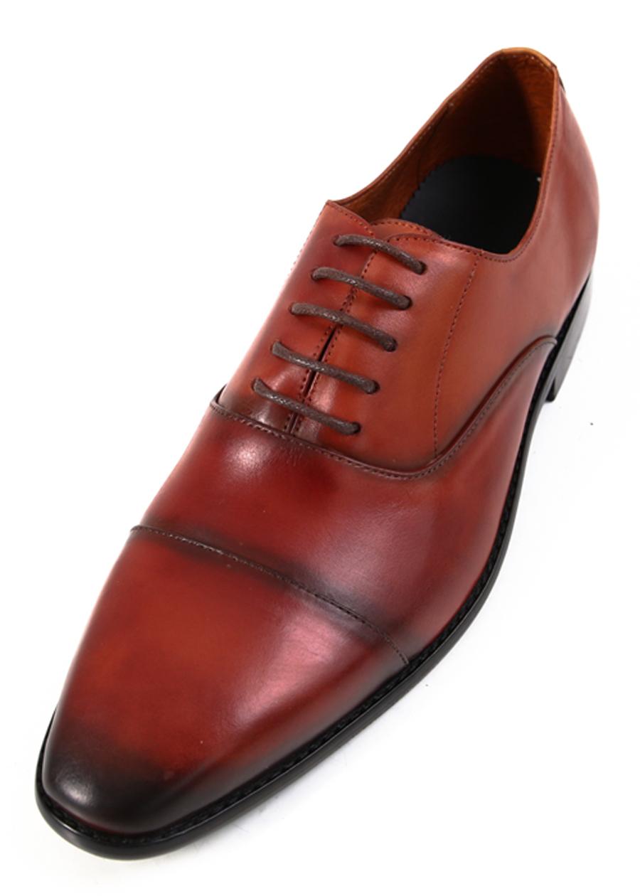 Giày Tây Da Nam Ftt Leather - Nâu Đỏ