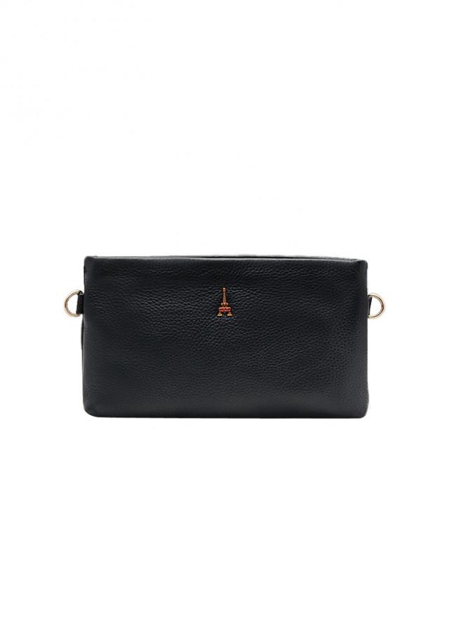 Túi đeo chéo nữ ELMI da bò thật cao cấp màu đen ET812