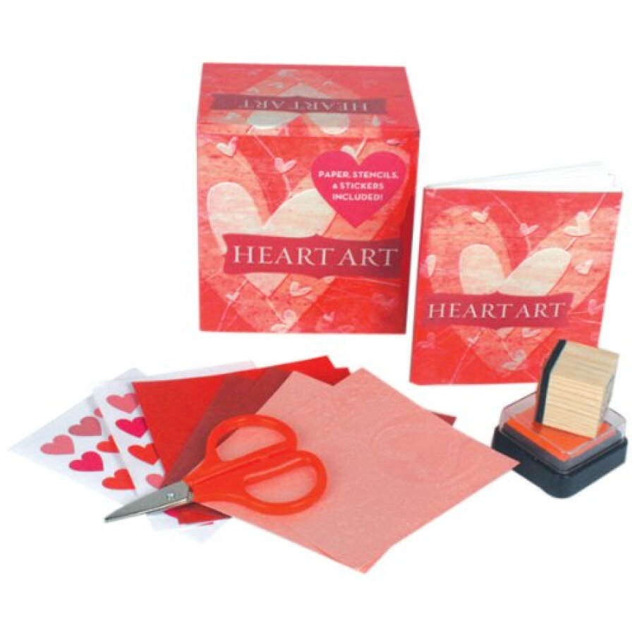Heart Art  Paper Stencils Stamp and More!