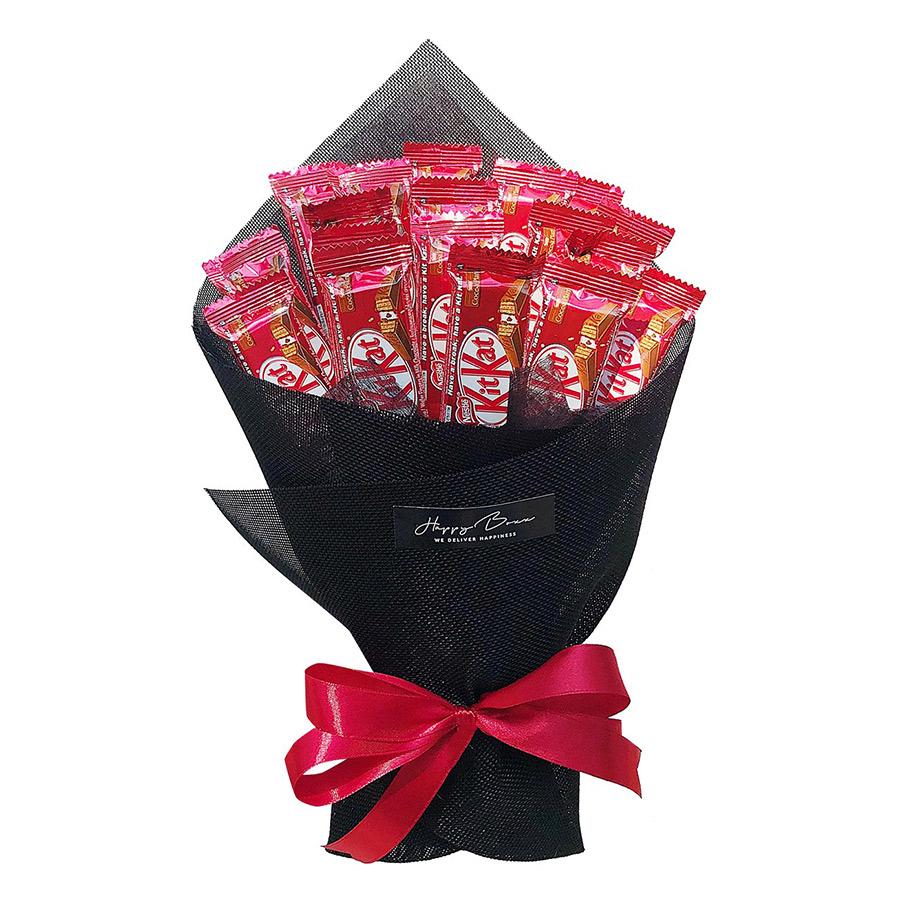Bó Hoa Chocolate Kit Kat 2F (17g x 18 Thanh) - Giấy Bố Đen - 1271634 , 3465860236254 , 62_10647753 , 419000 , Bo-Hoa-Chocolate-Kit-Kat-2F-17g-x-18-Thanh-Giay-Bo-Den-62_10647753 , tiki.vn , Bó Hoa Chocolate Kit Kat 2F (17g x 18 Thanh) - Giấy Bố Đen