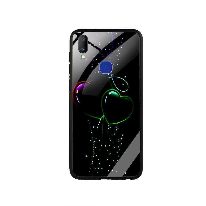 Ốp Lưng Kính Cường Lực cho điện thoại Vivo V11i - Heart 12