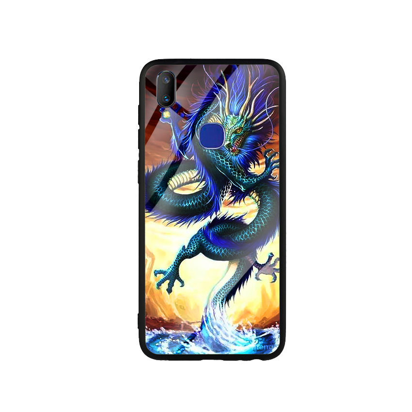 Ốp Lưng Kính Cường Lực cho điện thoại Vivo V11i - Dragon 08