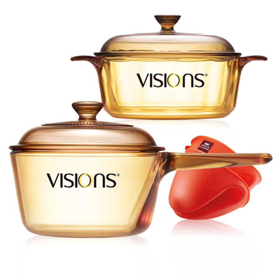 Corning VISIONS 1.25+1.5L crystal color transparent single handle pot silicone gloves three-piece VS-12P15MIT/JD - 762597 , 4163899551339 , 62_9078065 , 2680000 , Corning-VISIONS-1.251.5L-crystal-color-transparent-single-handle-pot-silicone-gloves-three-piece-VS-12P15MIT-JD-62_9078065 , tiki.vn , Corning VISIONS 1.25+1.5L crystal color transparent single handle p
