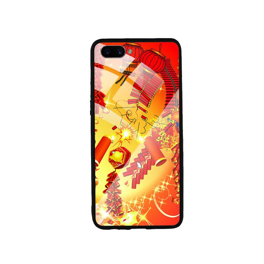 Ốp Lưng Kính Cường Lực cho điện thoại Oppo A3s - Firework 02