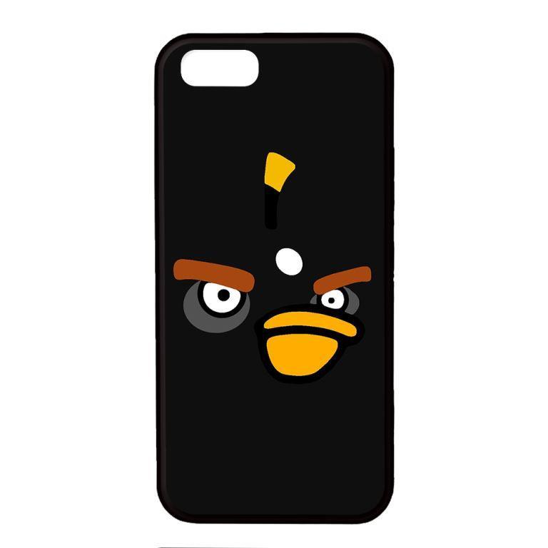Ốp lưng dành cho điện thoại Iphone 5 Angry Đen