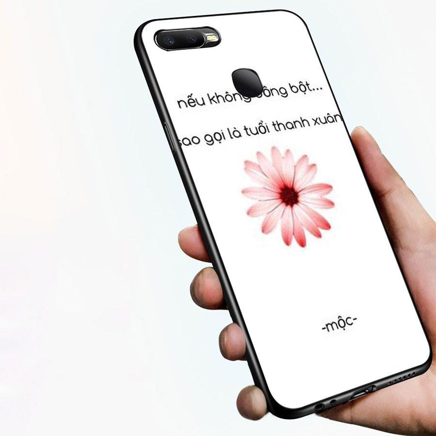 Ốp kính cường lực dành cho điện thoại Oppo F9 - A7 - ngôn tình tâm trạng - tinh2019