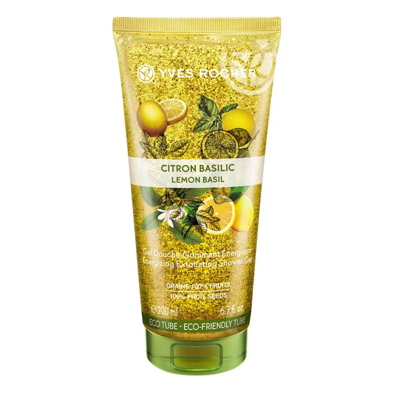 Gel Tắm Tẩy Tế Bào Chết Từ Chanh Và Húng Quế Yves Rocher Energizing Exfoliating Shower Gel Lemon Basil Tuýp 200ml