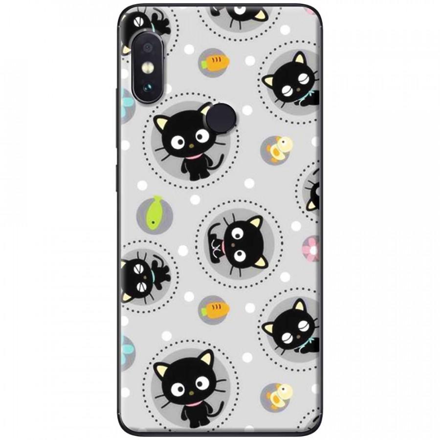 Ốp lưng dành cho Xiaomi Redmi Note 6 mẫu Mèo đen