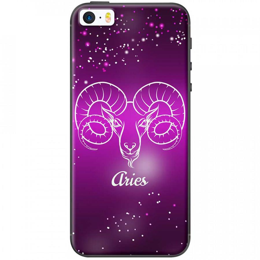 Ốp lưng  dành cho iPhone 5, iPhone 5s mẫu Cung hoàng đạo Aries (hồng)