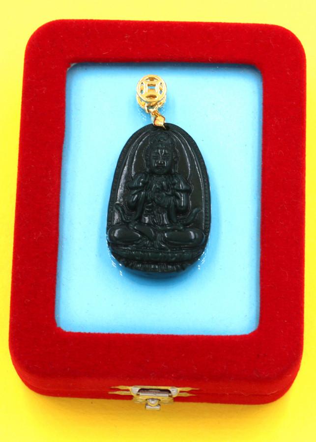 Mặt Phật Đại Nhật như lai đá cẩm thạch 3.6 cm kèm hộp nhung