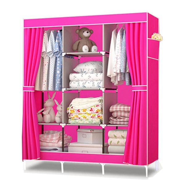 Tủ vải đựng quần áo 3 buồng 8 ngăn tiện dụng