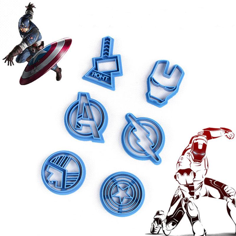 6Pcs/set The Avengers Captain America Shape Fondant Cake Cookie Mold Mould - 1790200 , 9301349635733 , 62_13160906 , 254000 , 6Pcs-set-The-Avengers-Captain-America-Shape-Fondant-Cake-Cookie-Mold-Mould-62_13160906 , tiki.vn , 6Pcs/set The Avengers Captain America Shape Fondant Cake Cookie Mold Mould