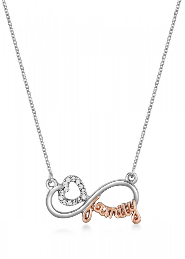 Dây chuyền Mestige Family Ties Necklace with Swarovski Crystals - Silver (43 cm)