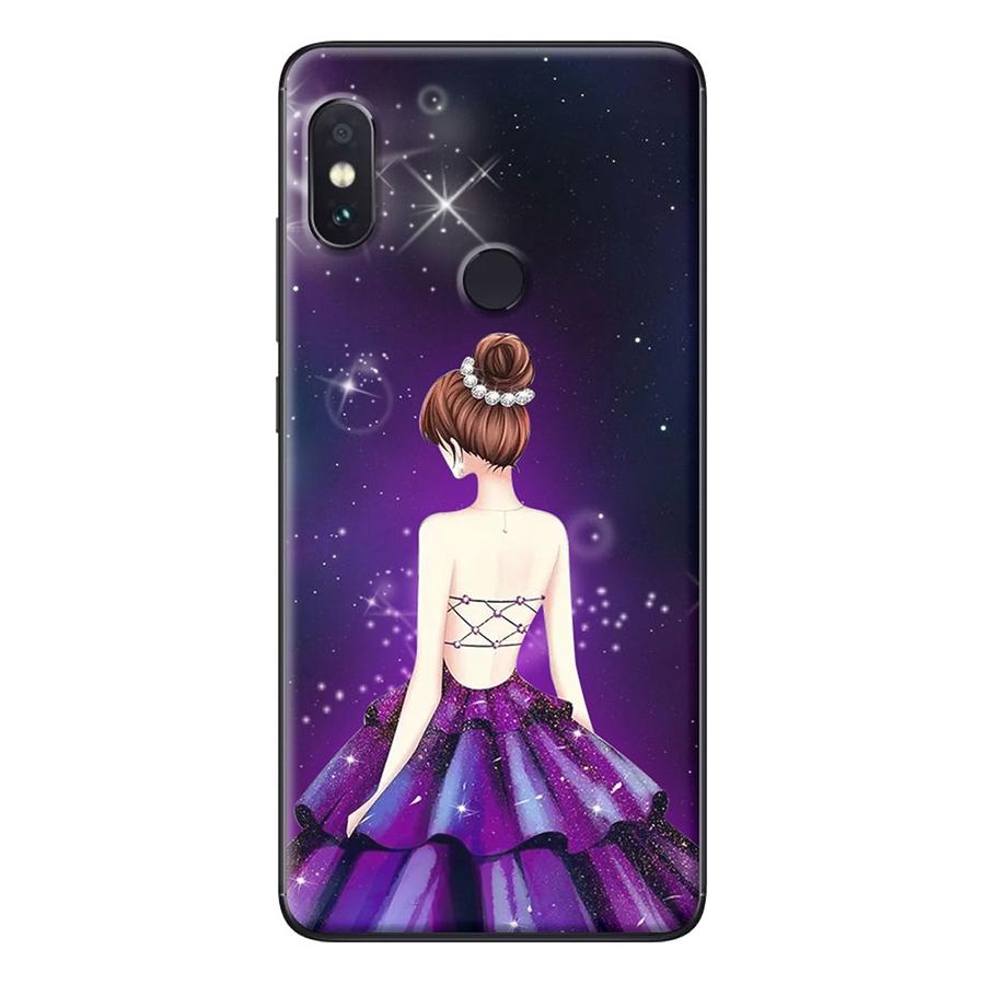 Ốp Lưng Dành Cho Xiaomi Redmi Note 5 Cô gái váy tím