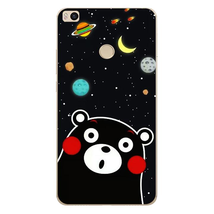 Ốp lưng dẻo Nettacase cho điện thoại Xiaomi Mi Max 2_0345 BEAR03 - Hàng Chính Hãng