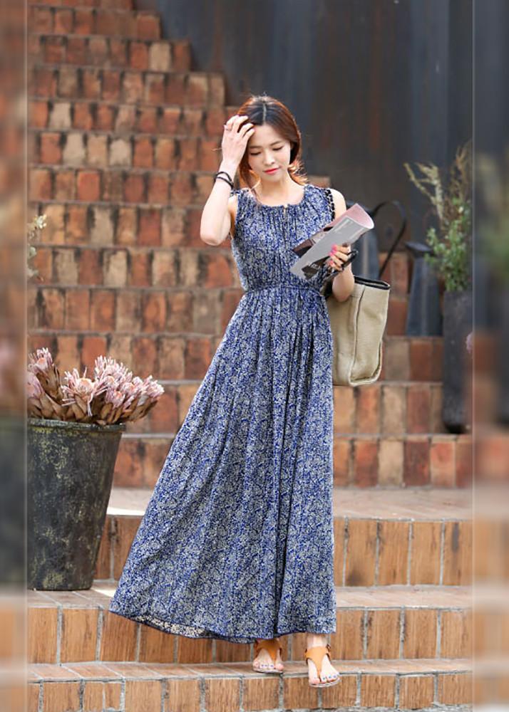 2432371729248 - Váy đầm tone cotton dài dạo chơi, đi biển - Maxi 34