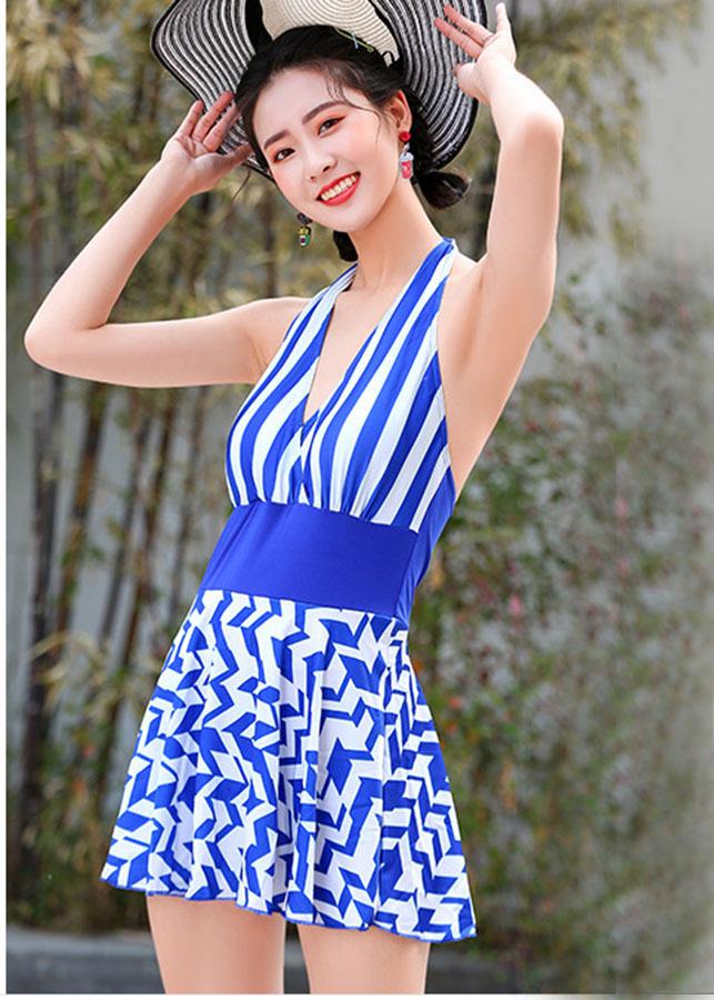 Áo bơi nữ điệu đà  kẻ sọc váy ziczac xanh (ZICZAC- XANH) - 1879682 , 6095233996323 , 62_14351737 , 179000 , Ao-boi-nu-dieu-da-ke-soc-vay-ziczac-xanh-ZICZAC-XANH-62_14351737 , tiki.vn , Áo bơi nữ điệu đà  kẻ sọc váy ziczac xanh (ZICZAC- XANH)