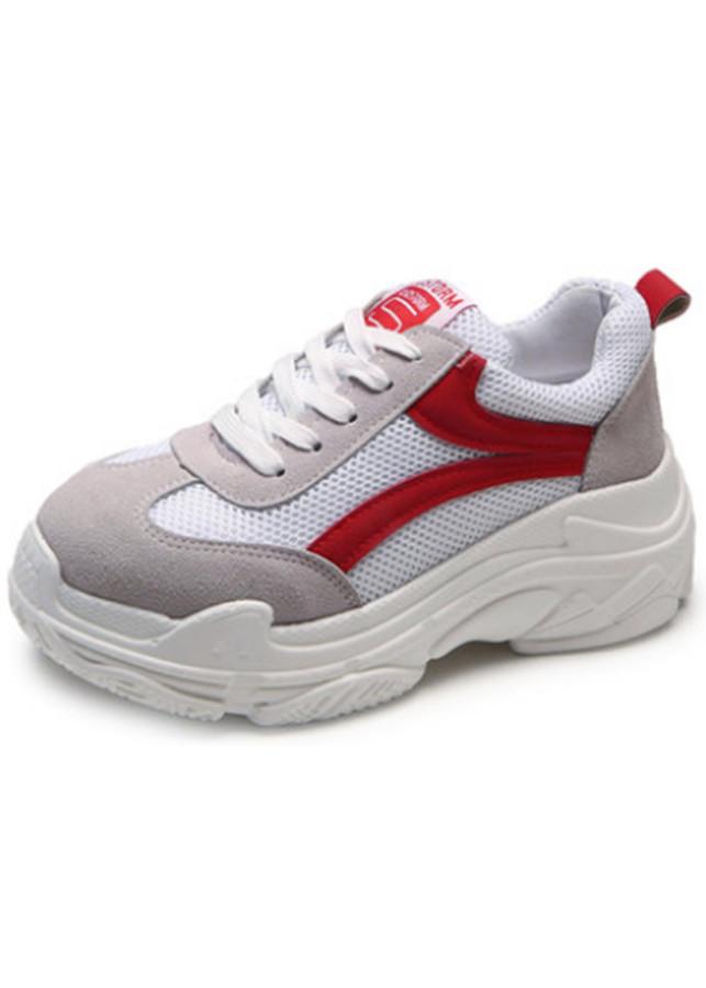 Giày Sneaker Nữ Tăng Chiều Cao Trắng Đỏ Cột Dây Thời Trang - 2333972 , 4543557375383 , 62_15153154 , 236000 , Giay-Sneaker-Nu-Tang-Chieu-Cao-Trang-Do-Cot-Day-Thoi-Trang-62_15153154 , tiki.vn , Giày Sneaker Nữ Tăng Chiều Cao Trắng Đỏ Cột Dây Thời Trang