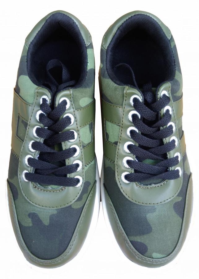 Giày bánh gót An Phát ( 014 Rằn ri rêu)