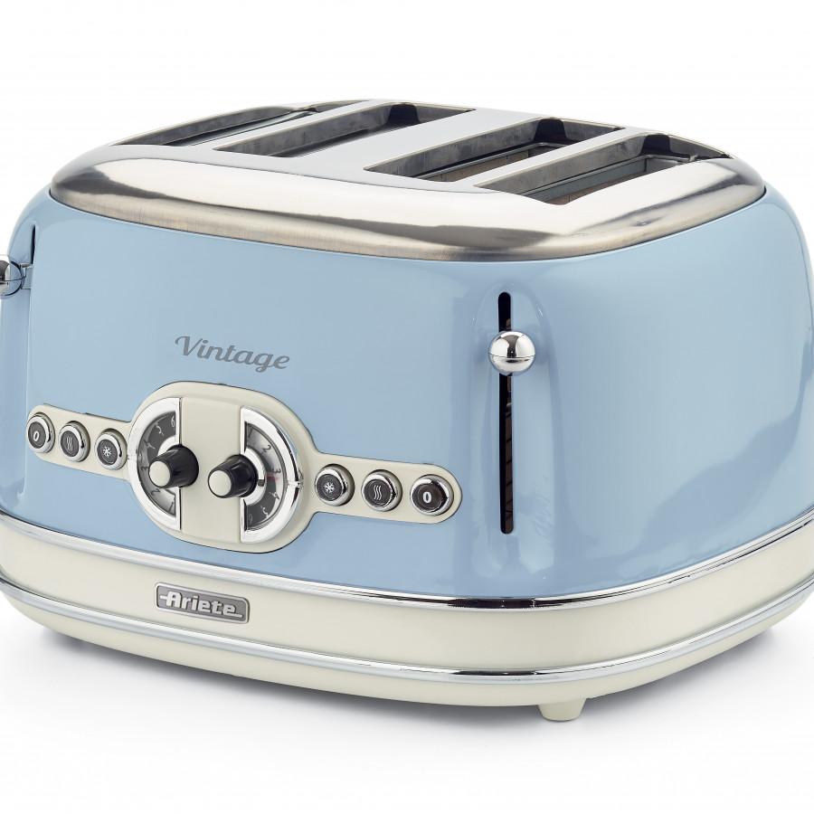 Nướng bánh mỳ 4 khay  (Màu xanh da trời) Ariete  MOD. 0156/05