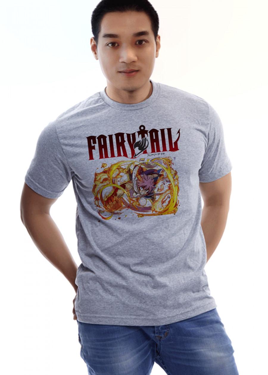 Áo Thun Fairy Tail Xám MS 13