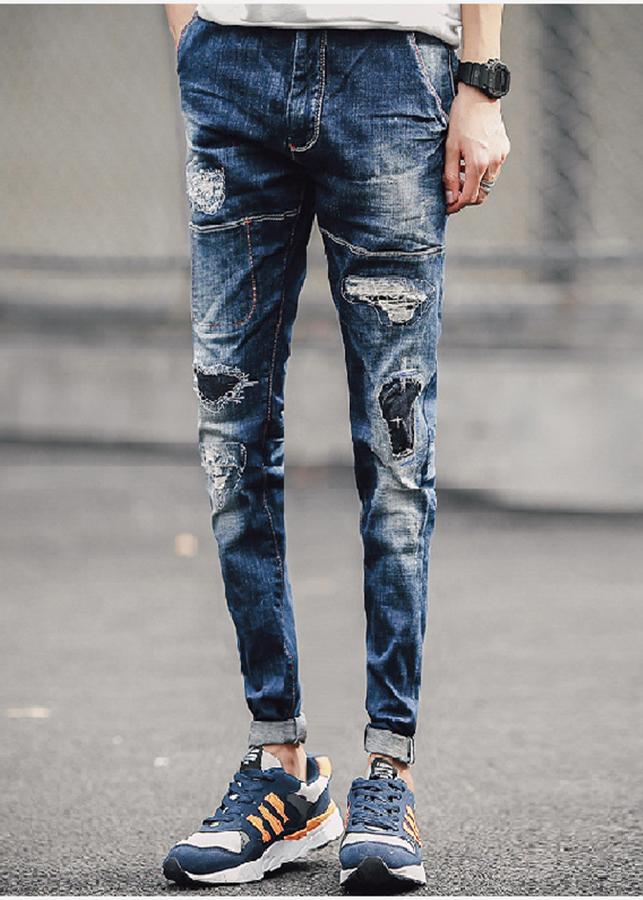 Quần Skinny Jean Rách Vá - Ripped Jean